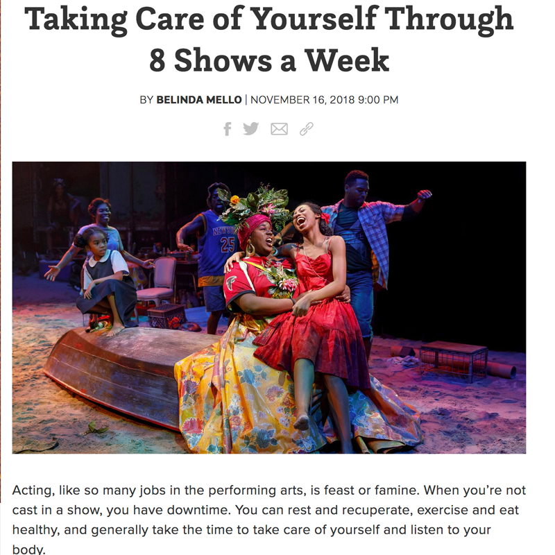Taking Care of Yourself Through 8 Shows a Week