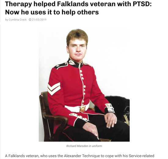 How the Alexander Technique helped a Falklands veteran with PTSD