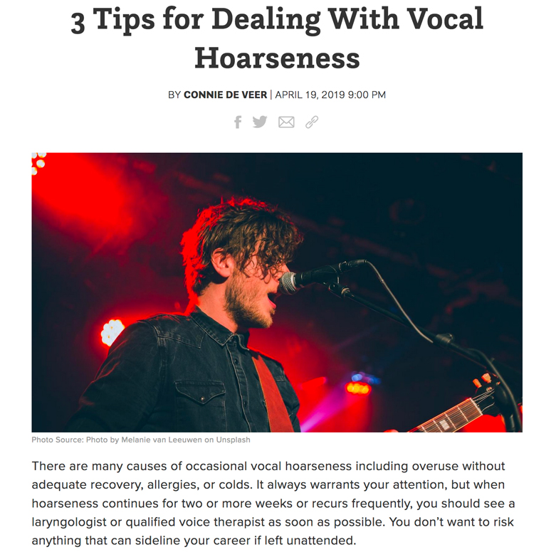 Tips for Dealing With Vocal Hoarseness